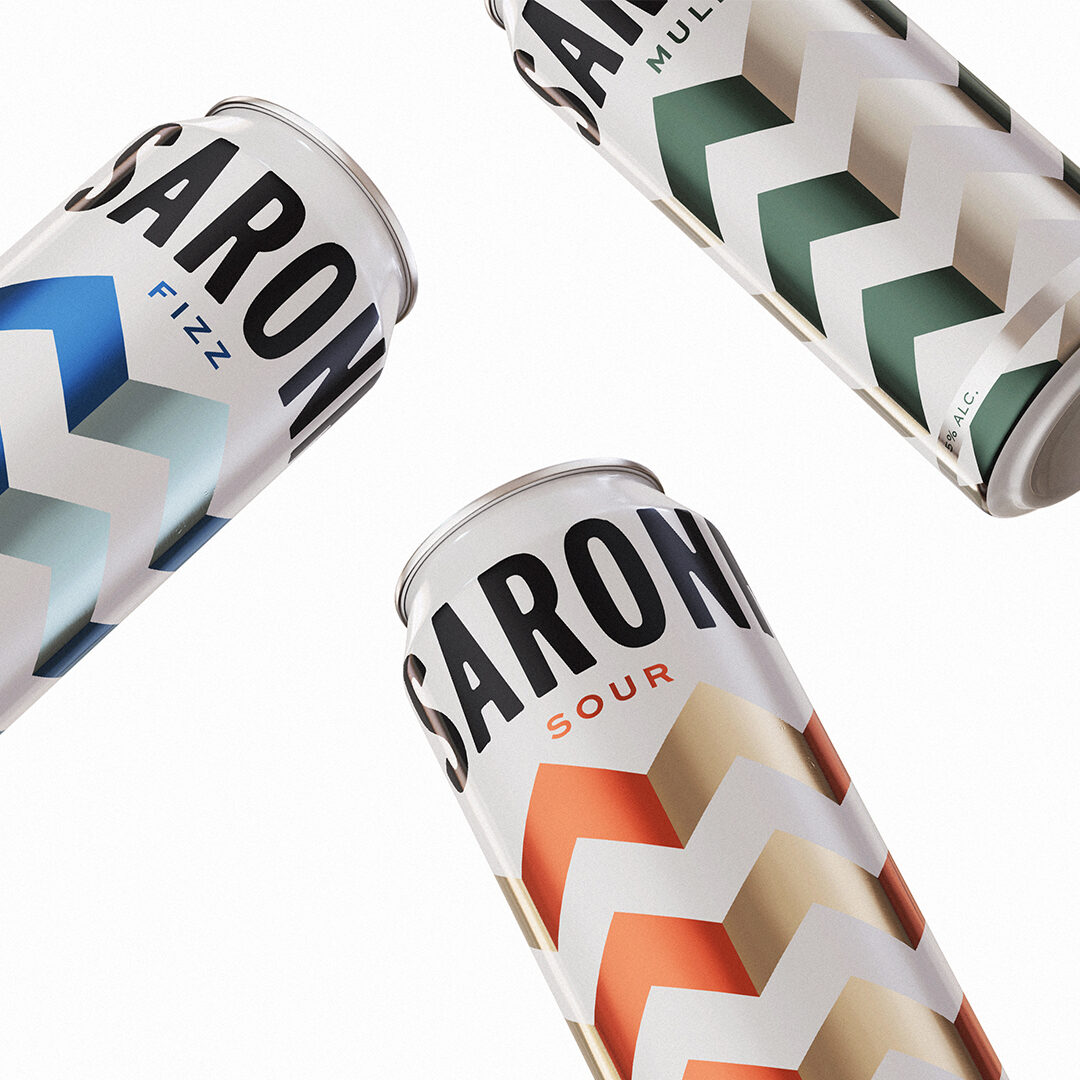 An image of three different drinks cans filled with disaronno cocktails, a mule one, a fizz one and a soda one.