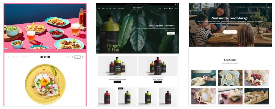 Example e-commerce websites.