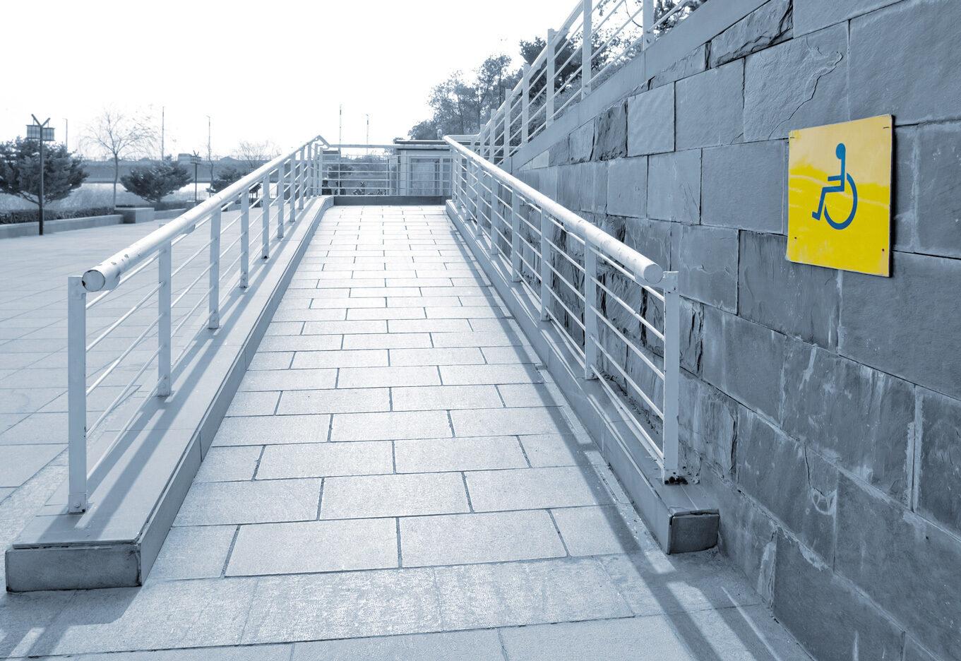 Wheelchair ramp.