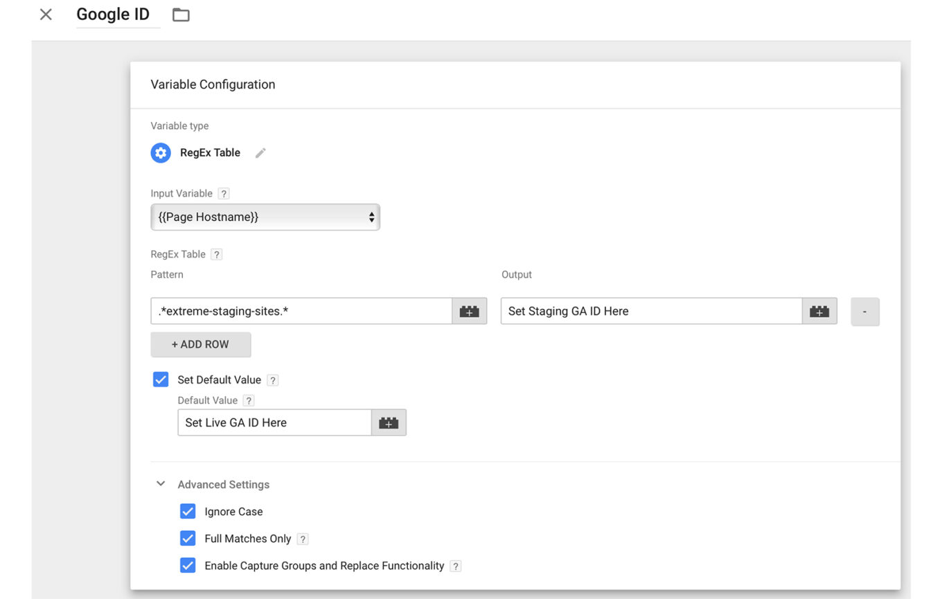 Google Tag Manager Variable