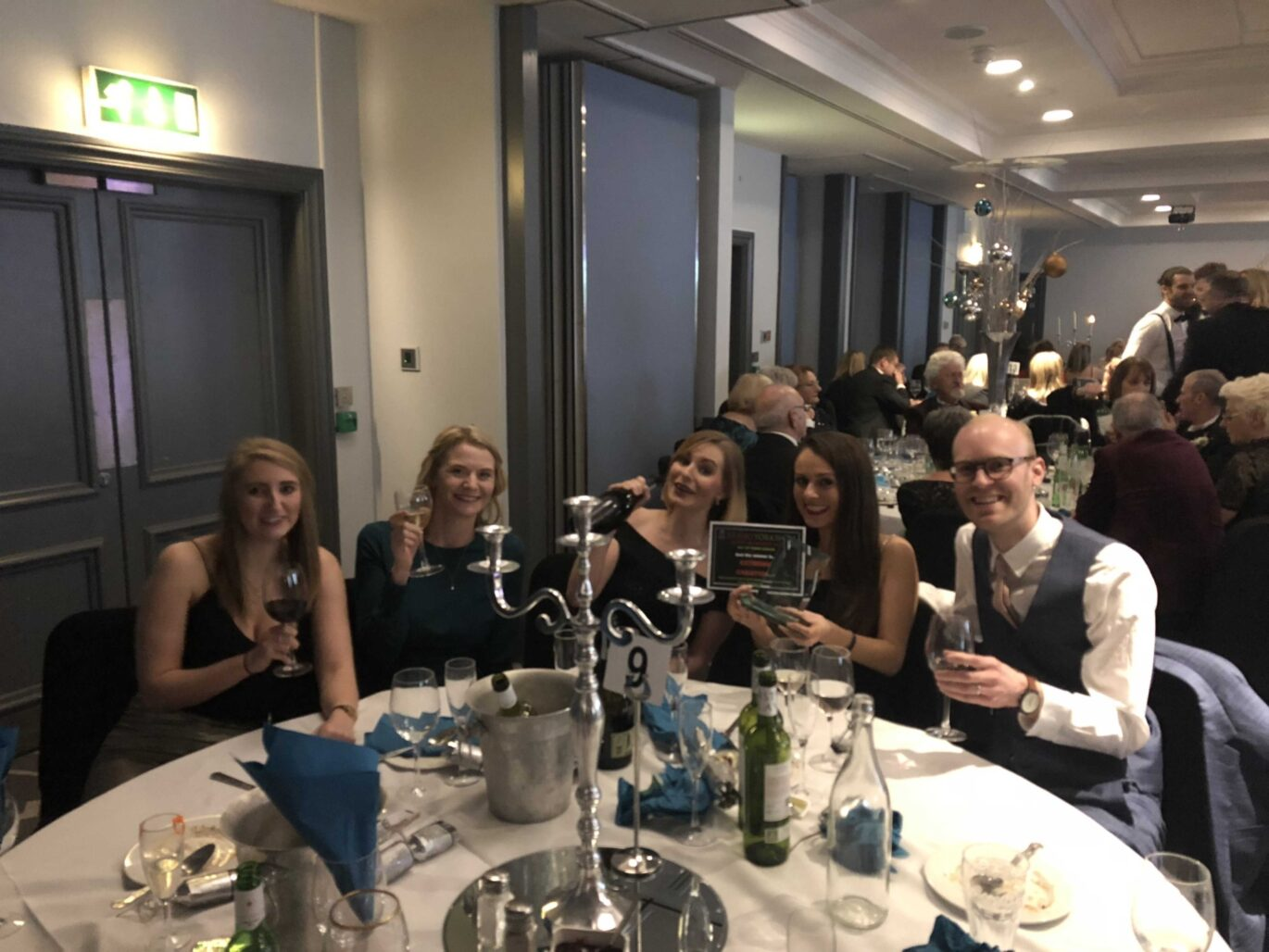 A selection of Team Extreme basking in awards success.