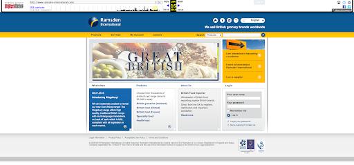 A screenshot of an older website that looks dated.