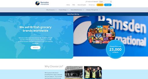 A screenshot of a modern, bold and colourful website