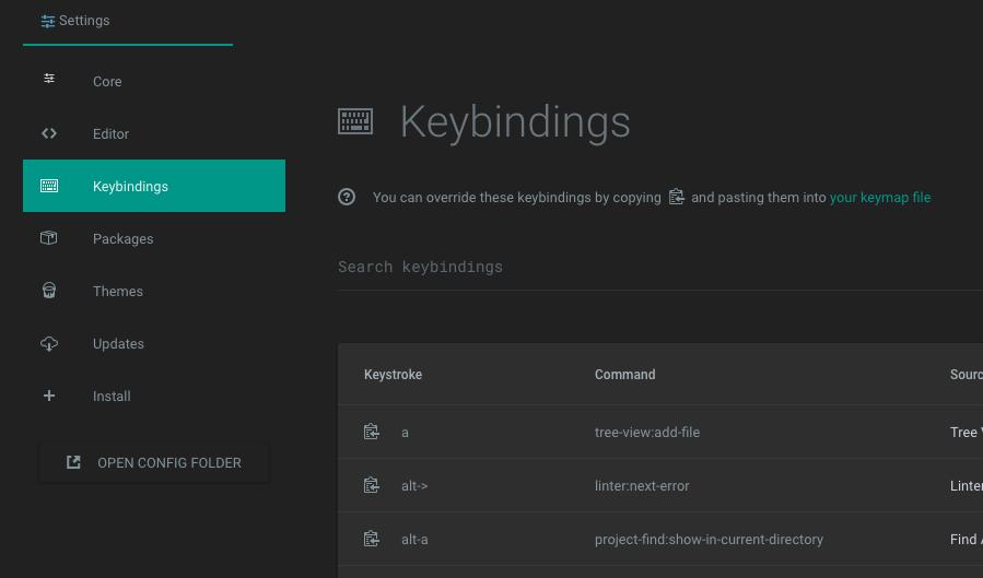 Keybindings