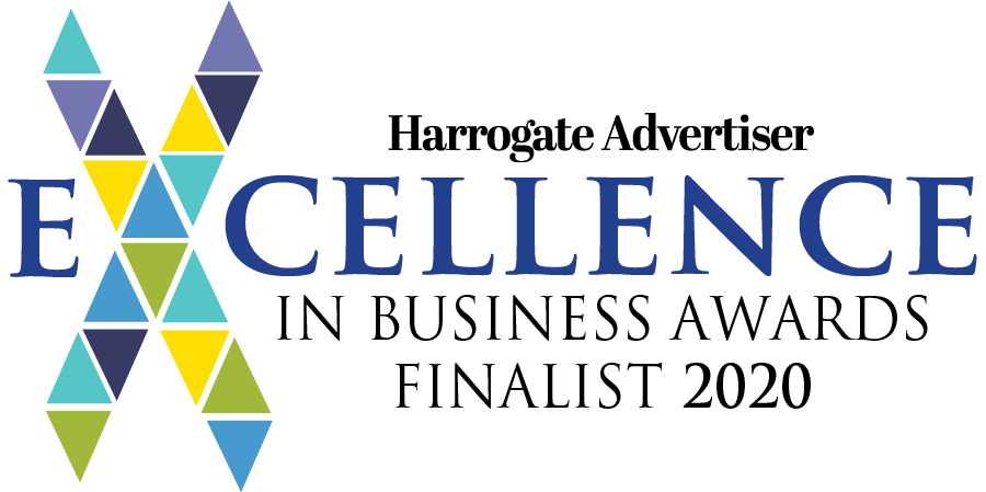 Harrogate Excellence in Business Awards Logo.